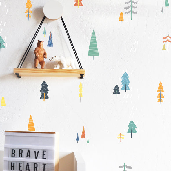 Hand Drawn Forest Compilation Secondary - WALL DECAL