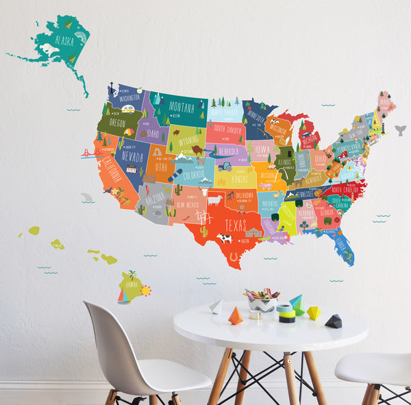 U S of A interactive map
