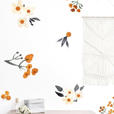 Vintage Mustard Flowers - Wall Decals