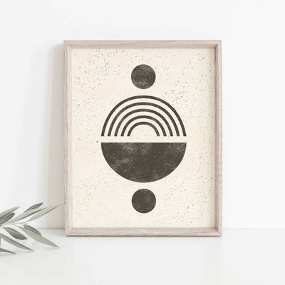 "Wall Art Print 8"" x 10"" Rainbow Totem - Black Cream"