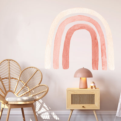 Watercolor Rainbow Pinks - Wall Decals