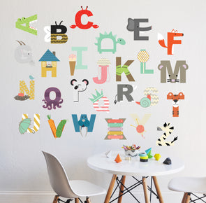INTERACTIVE ALPHABET - Childrens wall decal