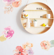 Bright Water Color Floral - Wall Decals