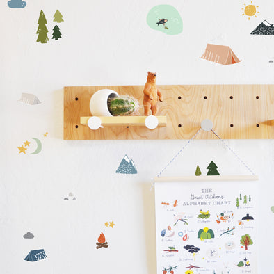 Wall Decal - Camping Adventure - Camping Decor - wall sticker - room decor