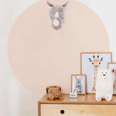 Solid Circle Wall Decal The Lovely Wall Company