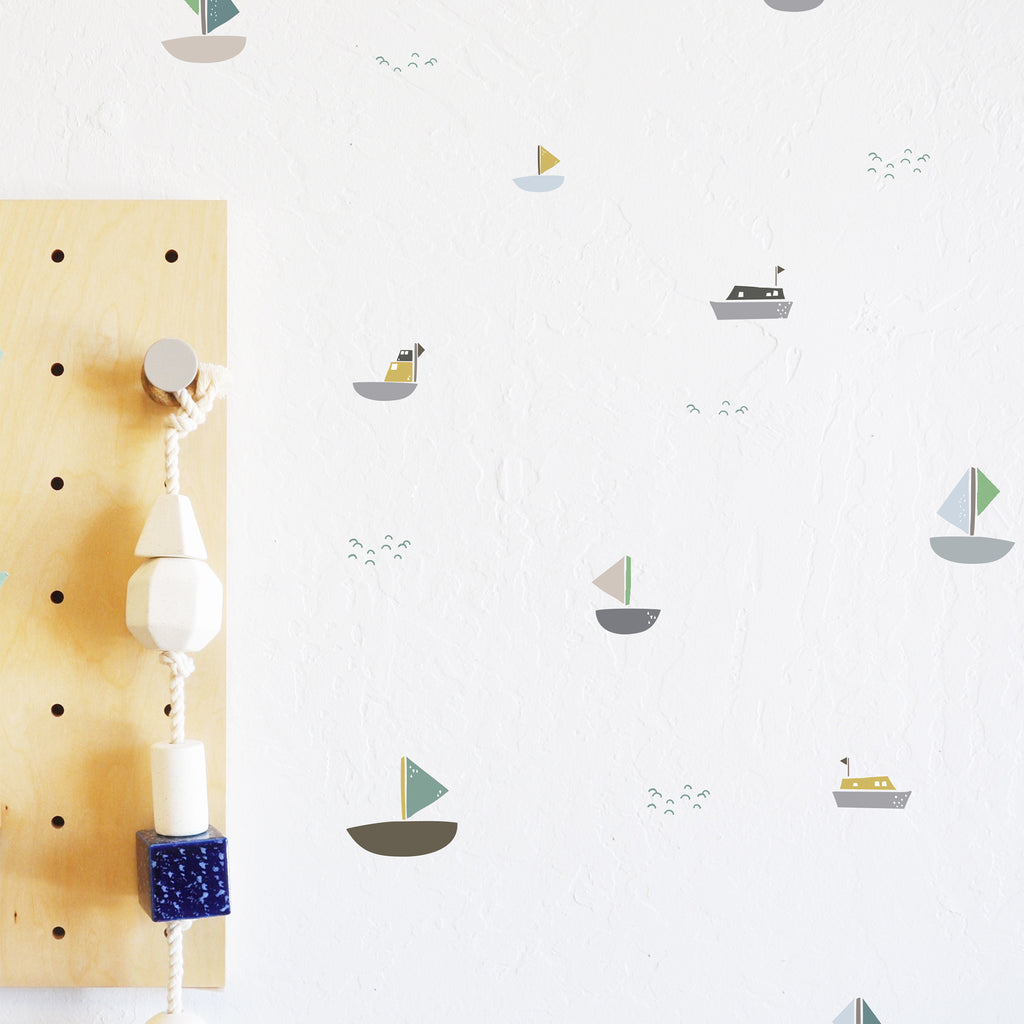 Wall Decal Come Sail Away Boats Nautical Wall Sticker Room D The Lovely Wall Company