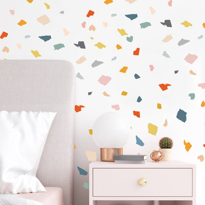 Cut Paper Terrazzo- Fun Colors  - Wall Decals