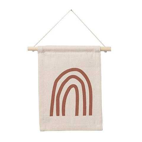 Rust Rainbow Hang Sign - wall hanging