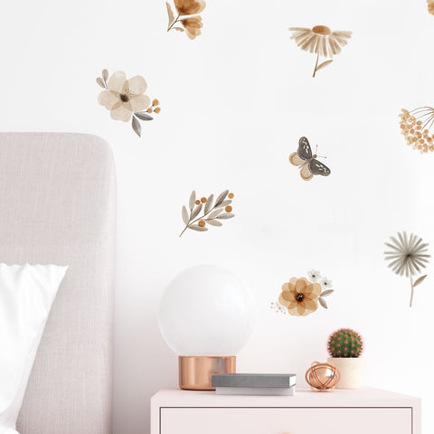 Delicate Water Color Floral - Wall Decals