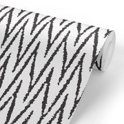 "Removable Wall Paper -  24"" x 48"" Marker Chevron Removable wall paper tile - Wall Paper"
