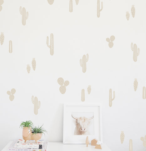 Drawn Cacti - Wall Decals