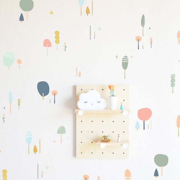 Wall Decal - Fairy Tale Forests - pastels - Wall Sticker - Room Decor