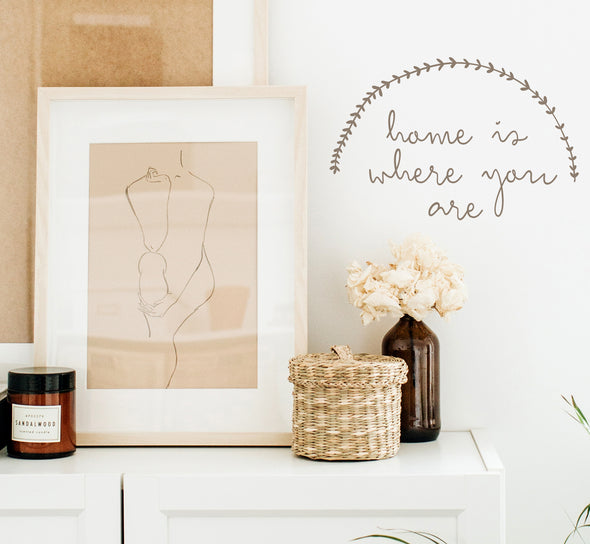 Home is where you are  - WALL DECAL