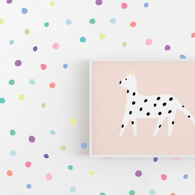 Ice Cream Tiny Hand Drawn Dots - Wall Decal