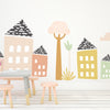 Large Jungle Trees -pastel  - Die Cut Decal - WALL DECAL