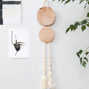 Wall Hanging -Maple & Rope Ovo Hanging - Wall Decor
