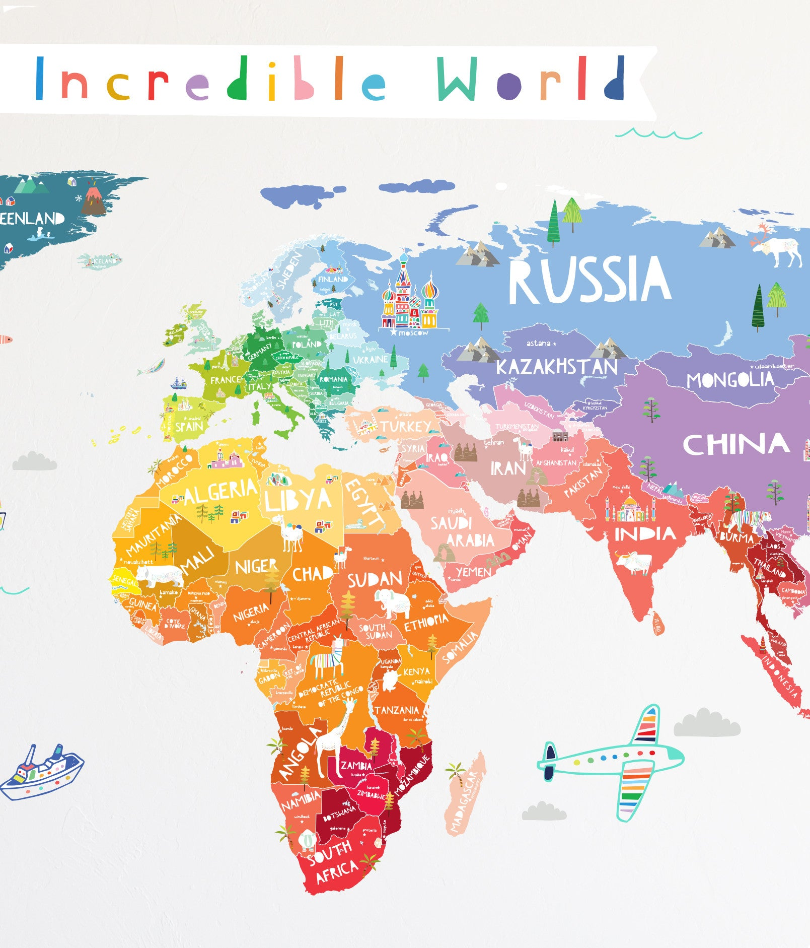 Our Incredible World Cut World Map Wall Decal with ... on map facebook covers, map wall mirror, map wall artwork, west point decal, diamond window decal, map wallpaper, wrench decal, map wall graphics, pirate life decal, map wall clock, trd hood decal, map paper, map united states football league, map wall mural, map your neighborhood, map with title, map shirt, nautical compass decal, wwp decal, map kashmir conflict,