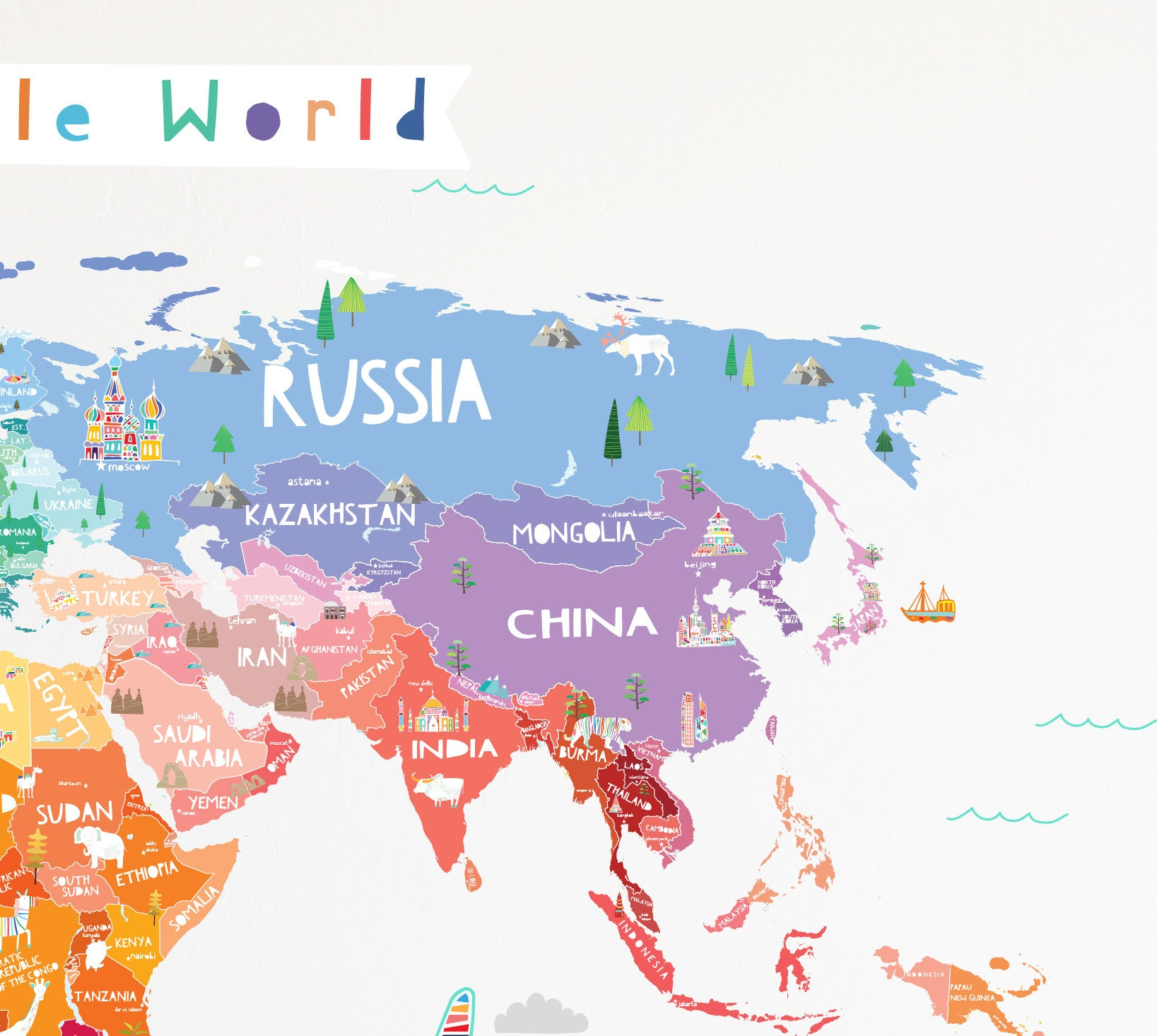 Our incredible world die cut world map wall decal with our incredible world die cut world map wall decal with personalization stickers amipublicfo Gallery