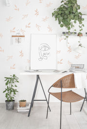 Open + Closed Leaves - Wall Sticker - Room Decor
