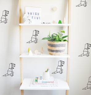 Origami T Rex - WALL DECAL