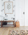Wall Decal -Outlined Flowers - Wall Sticker - Room Decor