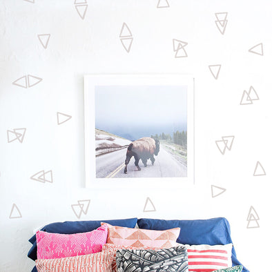 Outlined Triangles - WALL DECAL