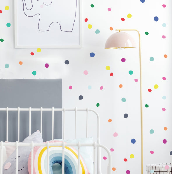 Play Time Tiny Hand Drawn Dots - Wall Decal
