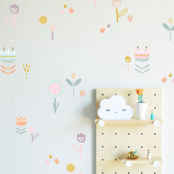 Scandi Flowers- WALL DECAL