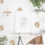 Simple Watercolor Leaf - Wall Decals