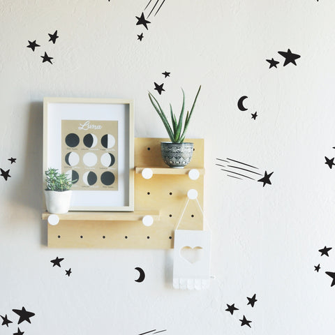 Sketched Shooting Stars  - WALL DECAL