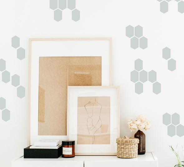 Stretched Honeycomb - Wall Decals