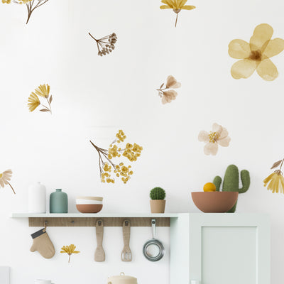 Sunny Water Color Floral - Wall Decals