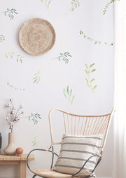 Water Color Sweet Branches and Leaves - Wall Decals