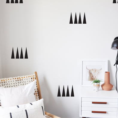 Extra Tall Triangles - WALL DECAL