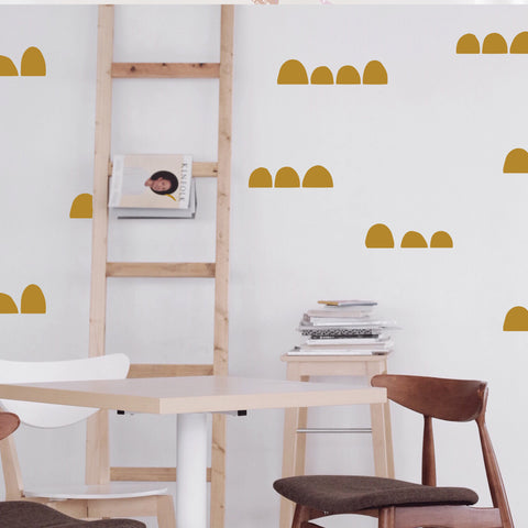 Solid Tiny Hills  - WALL DECAL