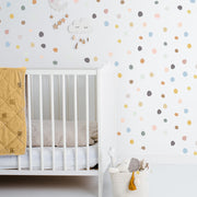 Colors on Colors Tiny Hand Drawn Dots - Wall Decal