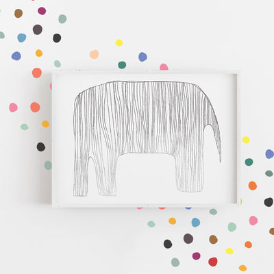 Rainbow Time Tiny Hand Drawn Dots - Wall Decal