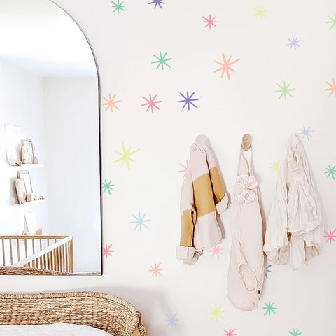 Ice Cream Marker Starbursts - WALL DECAL