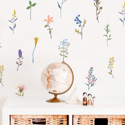 Vintage Long Stems - Wall Decals