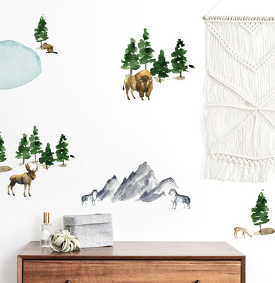 Watercolor Forests  - Wall Decals