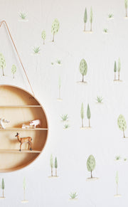 Water Color Sweet Trees - Wall Decals