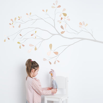 Whimsical Tree Branch- Pastel - Wall Decals