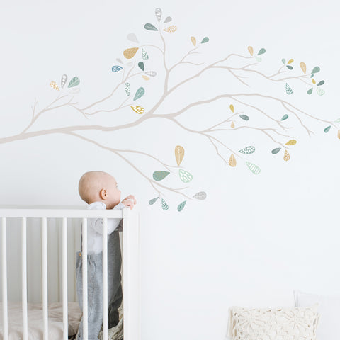 Whimsical Tree Branch- Muted  - Wall Decals