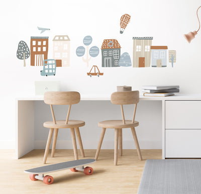 Whimsy Village Wall Decals