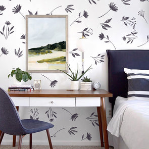 Wall Decal -Wild Flowers - Wall Sticker - Room Decor
