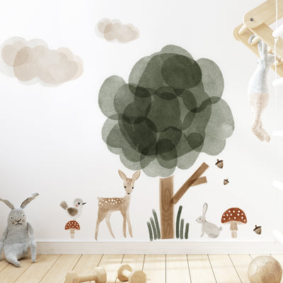 Wonder Forest Watercolor Decal - Wall Decals