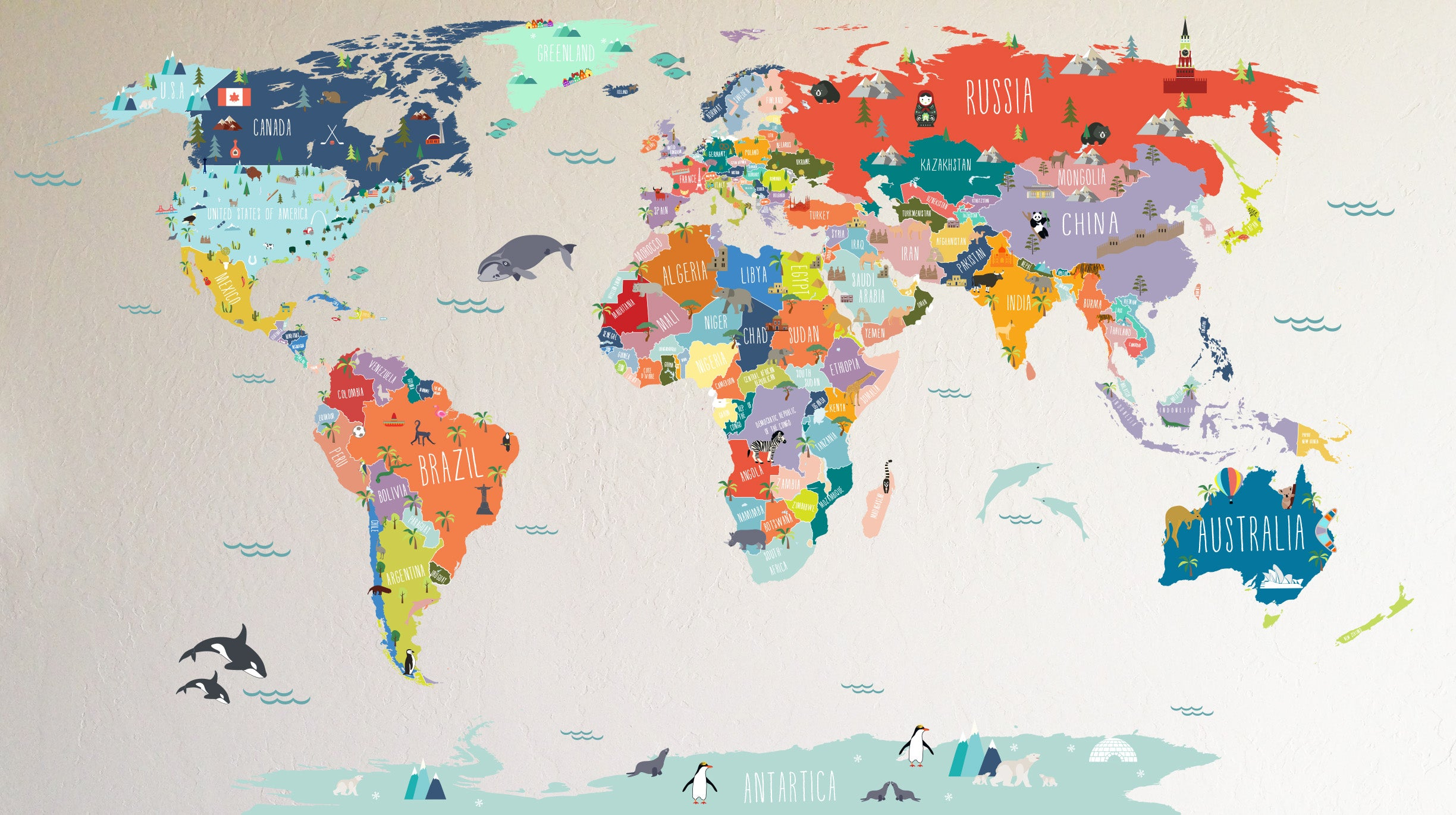 Interactive world map the lovely wall company interactive world map gumiabroncs Gallery