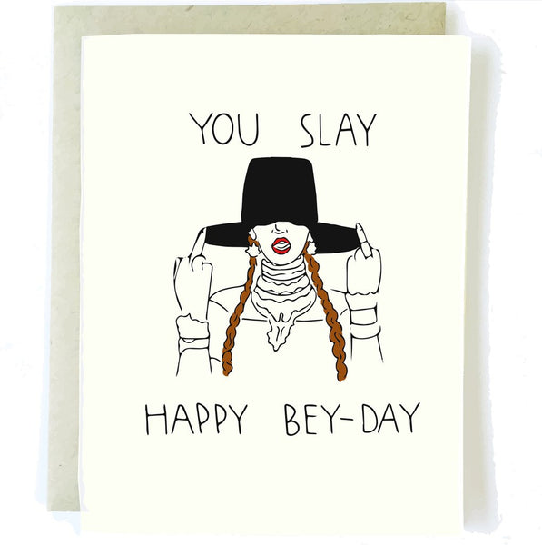 Bey-Day Greeting Card