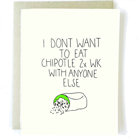 Chipotle Greeting Card