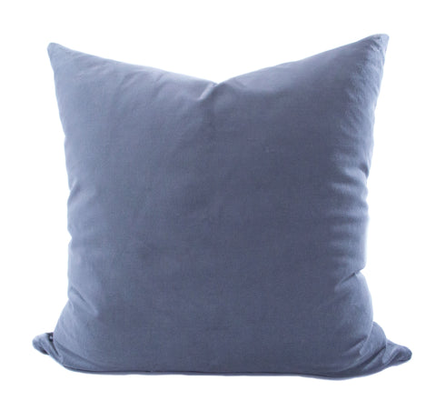 Gray Velvet Accent Pillow